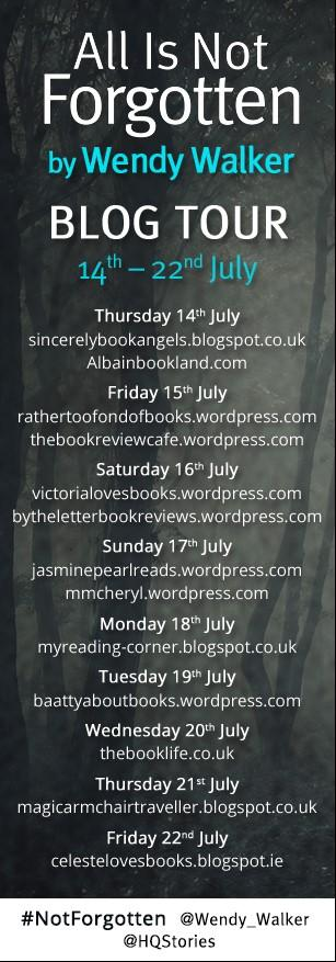 all is not forgotten Blog tour banner
