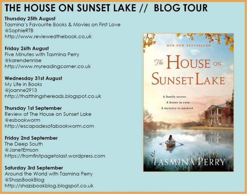 THE HOUSE ON SUNSET LAKE BLOG TOUR – TASMINA PERRY