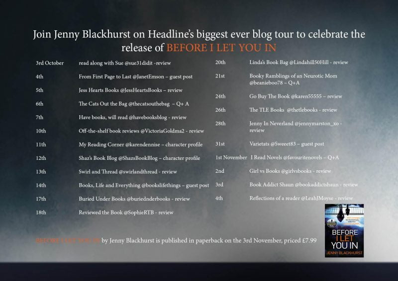 BEFORE I LET YOU IN BLOG TOUR
