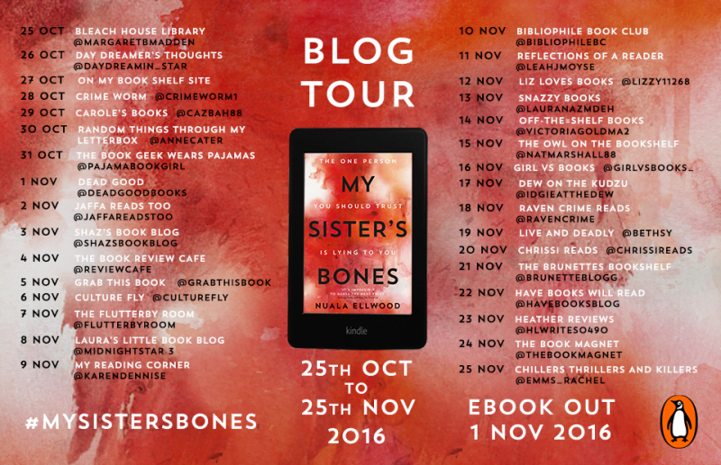 MY SISTER'S BONES BLOG TOUR