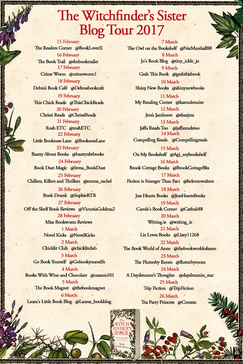 THE WITCHFINDER'S SISTER BLOG TOUR