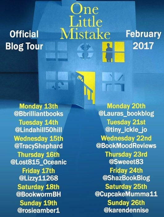 ONE LITTLE MISTAKE BLOG TOUR