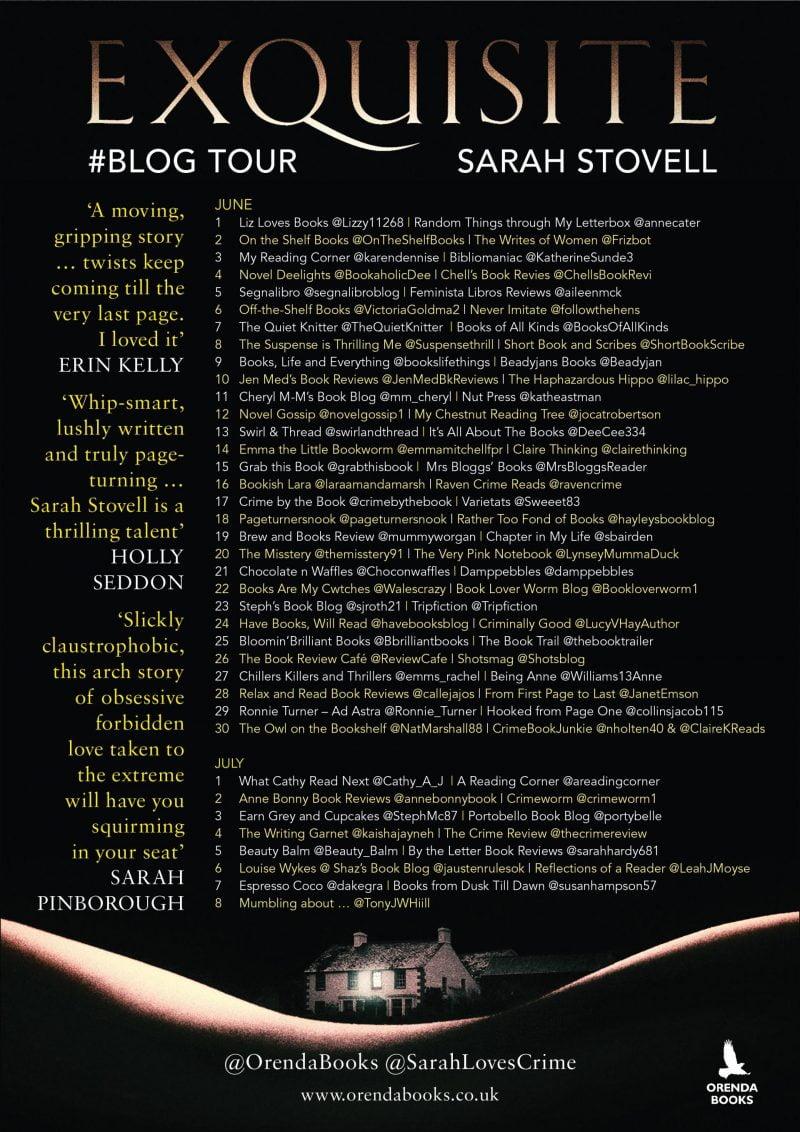 EXQUISITE BLOG TOUR – ORENDA BOOKS