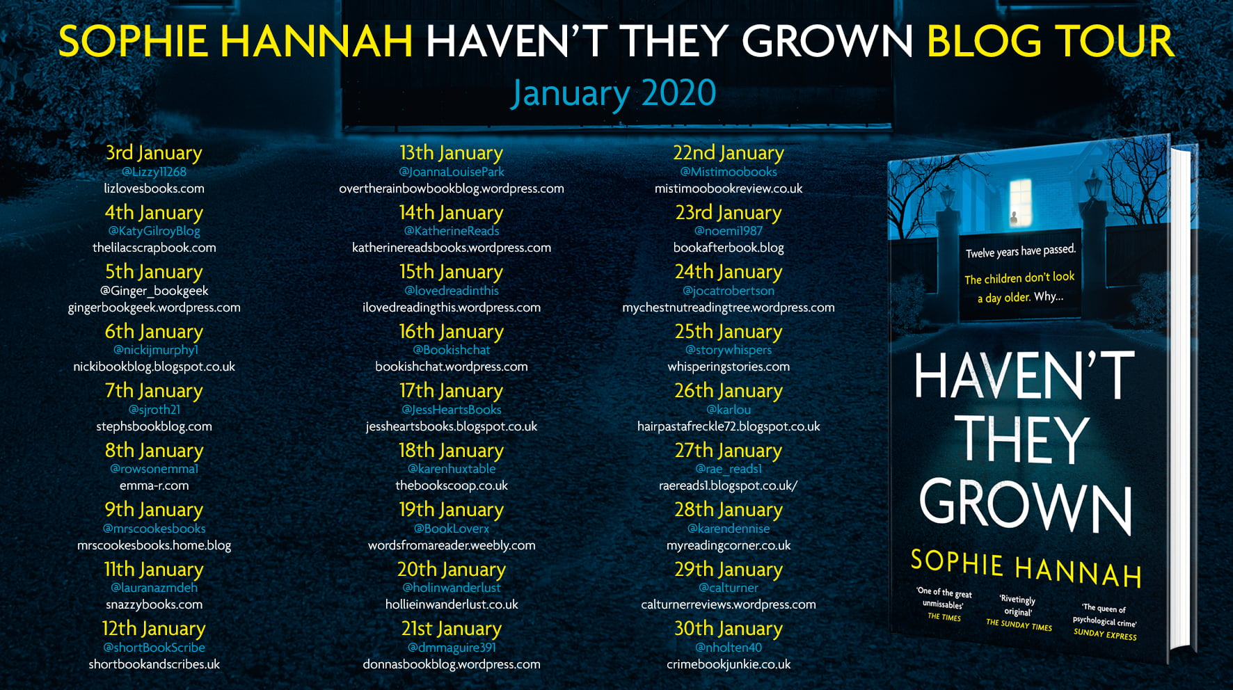 Haven't They Grown – Sophie Hannah