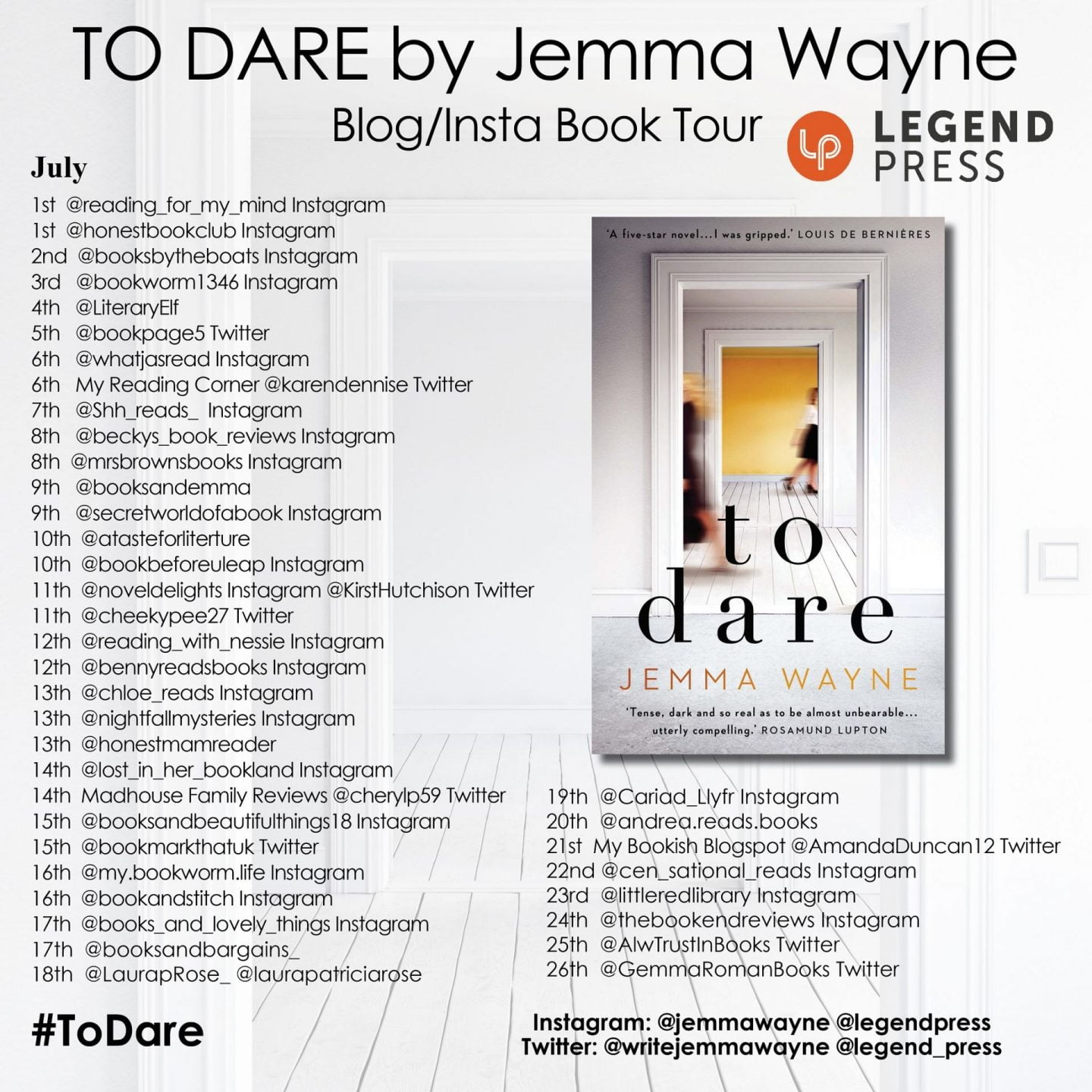 To Dare blog tour banner