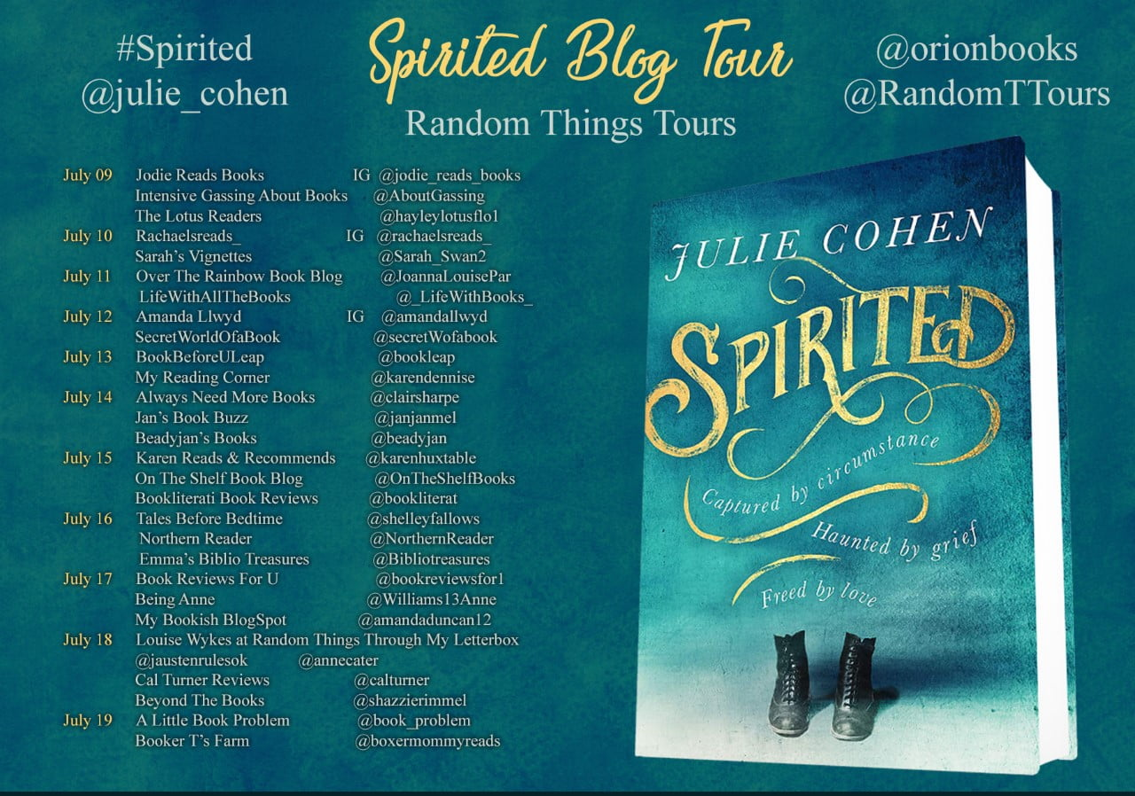Spirited blog tour banner