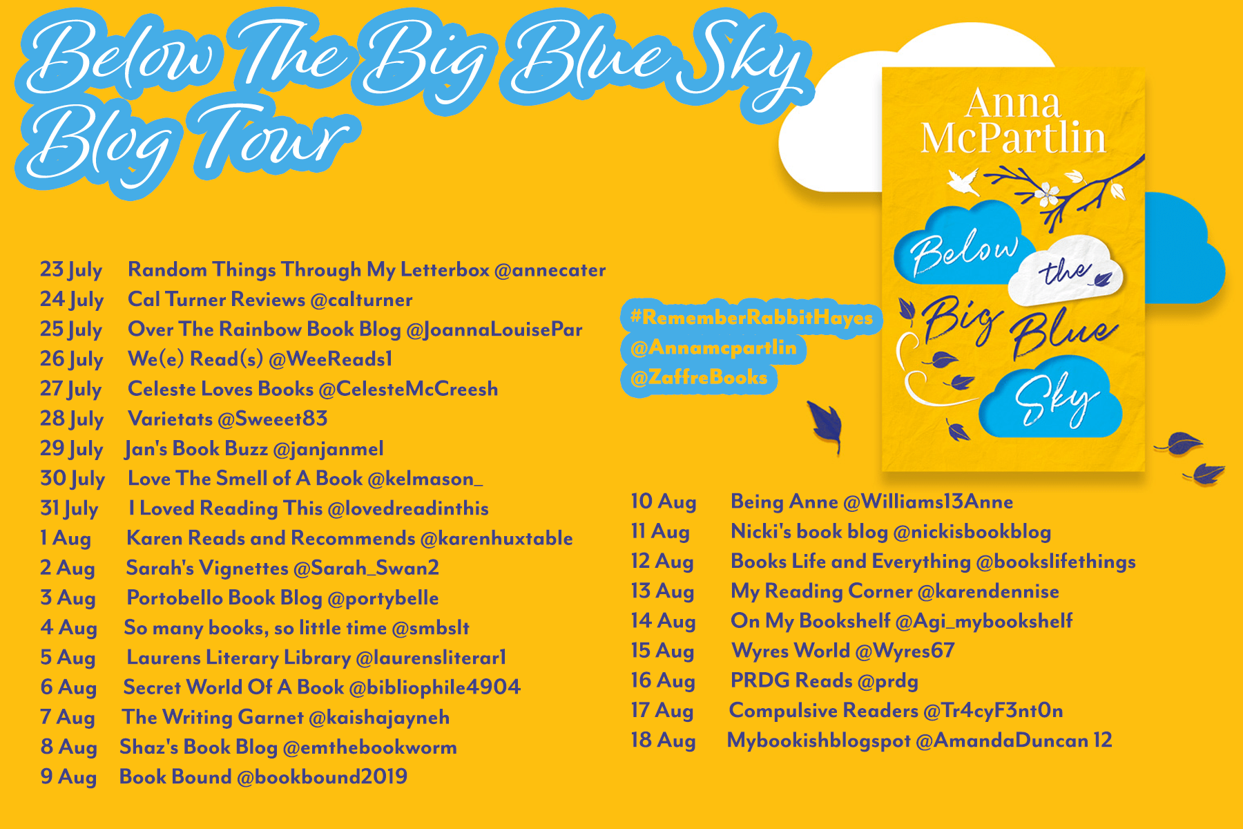 Below the Big Blue Sky – Anna McPartlin