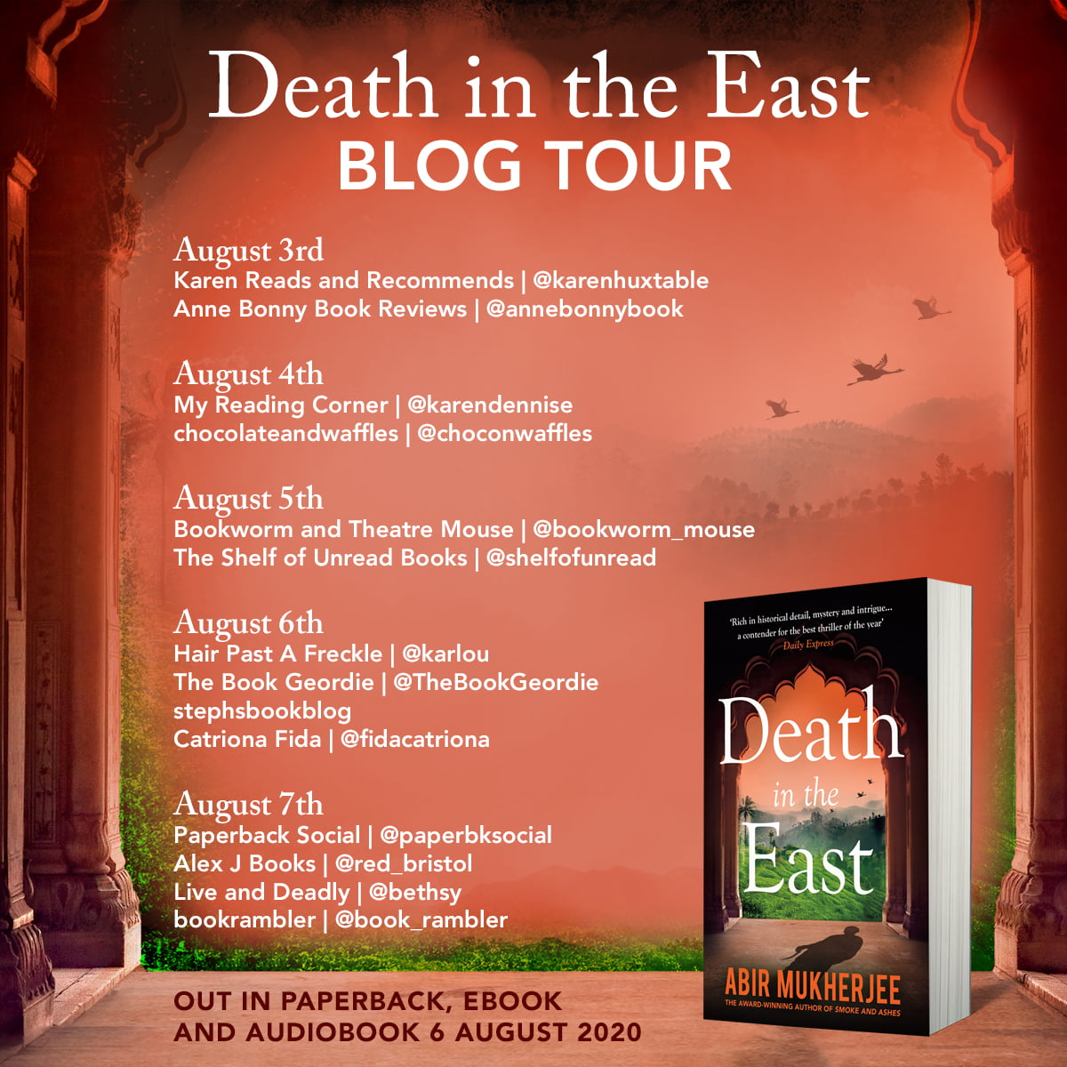 Death in the East tour banner