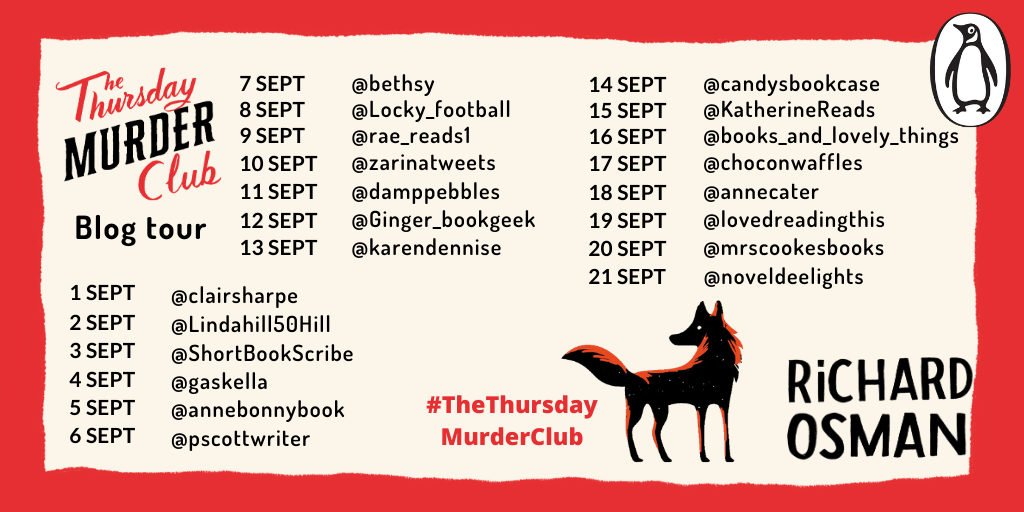 The Thursday Murder Club tour banner week 1