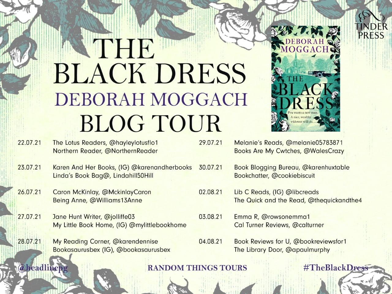The Black Dress by Deborah Moggach online blog tour banner